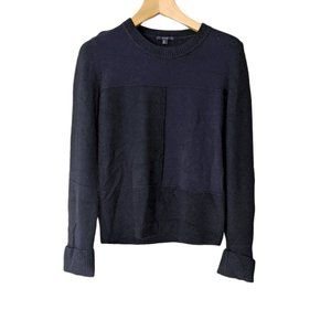 COS Contrast Panel Wool Jumper Pullover Sweater